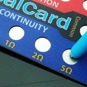 probe on calcard pad